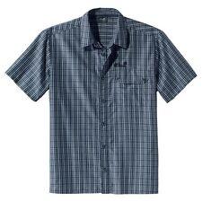 Jack Wolfskin camisa de hombre Mount KENIA hombre, talla M, Dark Blue CUADROS