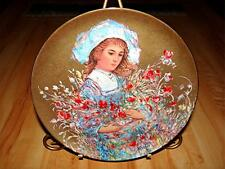 Edna Hibel, Flower Girl, Lily Plate, Made in Germany