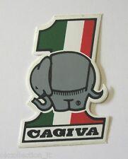 VECCHIO ADESIVO MOTO / Old Sticker CAGIVA 125 ELEFANT (cm 3,5x5) preppy paninaro