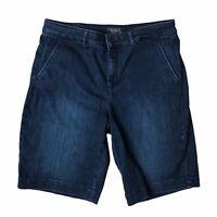 NYDJ Womens Bermuda Shorts Dark Wash Jean Denim Summer Spring Size 8P 8 Petite
