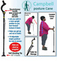 Medical Cane Folding LED Safety Walking Stick 4 Head Pivoting Trusty Base Magic