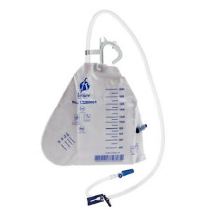 3 Urine Drainage Bag Urinary 2000 ml Antireflux Valve Vented T-Tap Outlet Drain