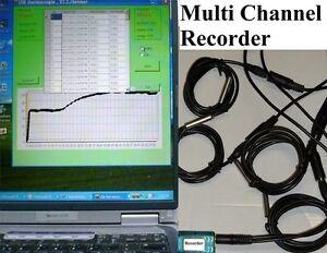 Multi 8 Channel Temperature Chart Recorder Data Logger Monitoring sensor Monitor