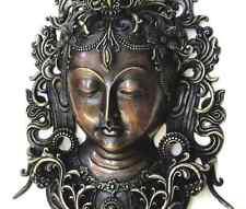 Large White Tara Tibetan Buddhist Bronze Mask Handcrafted Nepal Very Detailed