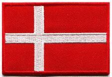 Flag of Denmark Danish Danes Europe Vikings applique iron-on patch new S-904