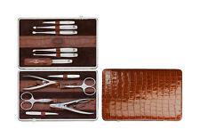 ZWILLING Twinox Beauty Astuccio Manicure 12tlg. MANICURE SET Emblema quadro Astuccio Marrone