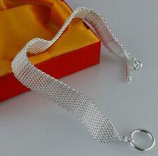 Nice! wholesale 1pc Silver nice limited link chain bangle Bracelets
