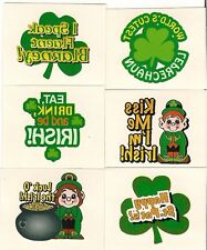 St. Pattys 12 Temporary Kids Tattoos St Patty's  L@@K