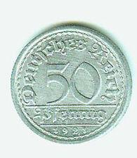 Deutsches Reich 50 Pfennig 1921 E