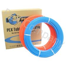 "2 rolls 3/4"" x 100 ft PEX Tubing Plumbing Pipe Drinking Potable Water NEW Combo"