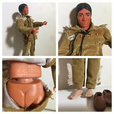 Vintage 1973 Lone Ranger Action Figure Native American Indian Feet Arms Shoes