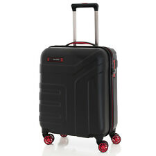 Travelite VECTOR 4 Rollen Handgepäck Schwarz Hartschalen Trolley Bordcase Koffer