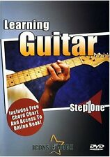 LEARNING GUITAR-STEP 1-ONE DVD/CHORD CHART/ONLINE ACCESS SEALED NEW ON SALE!!