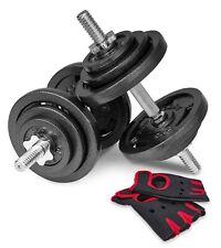 Hop-Sport 40kg Hantelset Gusseisen Kurzhanteln 2er Set Hanteln Gewichte 2x20 kg