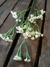 Faux Gypsophila Spray. Realistic Artificial Stem of Baby's Breath, Wild Flowers