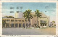 Philippines, Manila, Metropolitan Theatre, Old Postcard