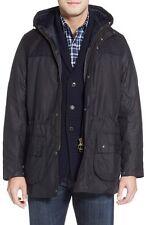 "Barbour ""Pionier"" wetterfest gewachst Relaxed Fit Jacke, navy, groß 729 $Retail"