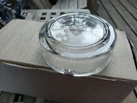 BLANK CLEAR GLASS NOS VINTAGE ASHTRAY ASH TRAY