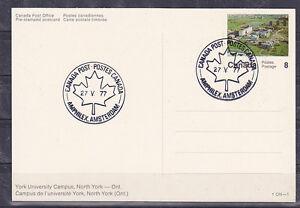 v902 Kanada/ Amphilex 1977 Ansichtskarte m.Sonderstempel