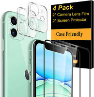 Screen Protector+Camera Lens Protector For iPhone 11 Pro Max Tempered Glass