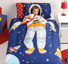 CUBBY HOUSE KIDS SPACEMAN Reversible Single Bed Size Boys Doona Quilt Cover Set
