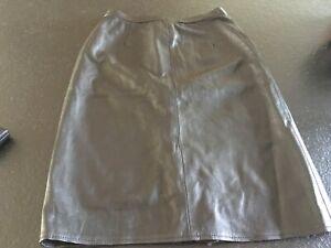 Black leather skirt size 12/14