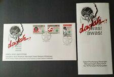 1986 Malaysia Prevention of Drugs Abuse 3v Stamps FDC (Melaka postmark) Lot B