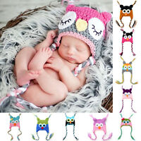 Newborn Baby Girl Boy Crochet Knit Beanie Costume Photo Photography Prop Cap Hat