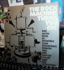 """VARIOUS.  """"THE ROCK MACHINE TURNS YOU ON """"  CBS UK 1968 LP. STEREO. SAMPLER."""