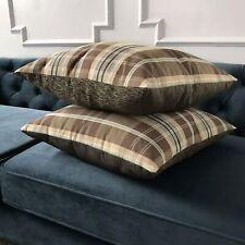 "Brown Mountain Lodge Plaid Decorative Pillow Cover 20"" x 20"""