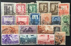 Regno Somalia italiana selezione di valori usati