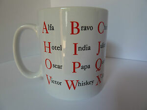 NATO Alphabet Mug Alfa Bravo Gift Present Tea Coffee Police Army Dad Sailor