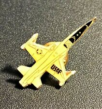 Vintage Usaf Air Force Fighter Jet Plane Metal Collector Hat Lapel Pin Tie-Tack