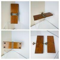 VINTAGE ANTIQUE - Varnished Wooden Flower Tie Press  9.5cm X 25.5cm Art Textiles