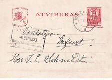 1930 Lithuania P18 Postal Stationery, Mazeikiai to Germany *d