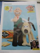 Crochet knitting pattern for Wallace and Gromit toys