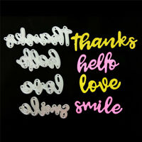 Thanks Hello Love Smile Metal Cutting Dies for DIY Scrapbook Album Paper Card TA