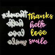 Thanks Hello Love Smile Metal Cutting Dies for DIY Scrapbook Album Paper CardsMC