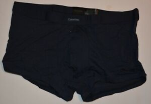Men's New Underwear Calvin Klein BLACK Series Low Rise Trunk Color Navy Size L