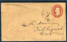 Ganzsachenumschlag USA Three Cents postalisch echt gelaufen - b1845