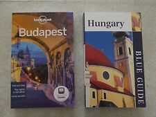 Lonely Planet Budapest and Hungary Blue Guide - lot of 2 books