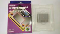 Official OEM Nintendo 64 N64 Controller PAK NUS-004 Memory Card In Box *Used*