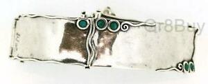 BRACELET: 3 SEGMENT 925 SILVER WITH TURQUOISE STONES (by Shablool)