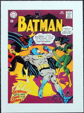 BATMAN POSTER PAGE . 1967 BATGIRL & CATWOMAN FIGHT OVER BATMAN . DC COMICS G72