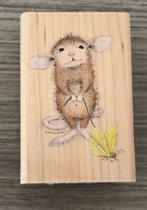 NEW ✿ Stampabilities Maxwell's Pet Butterfly House Mouse ✿ Wood Mounted Stamp ✿