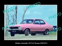 8x6 HISTORIC PHOTO OF GM HOLDEN THE 1972 LJ TORANA XUI GTR PRESS PHOTO 1