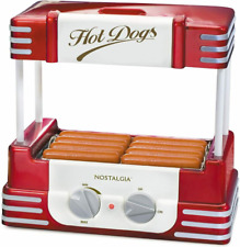 Nostalgia Hdr8rr Hot Dog Warmer 8 Regular Sized 4 Foot Long And 6 Retro Red