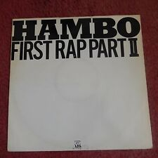 "HAMBO First Rap Part II 12"" VINYL UK Tommy Boy 1985 2 Track Vicious Vocal"