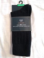 M&S Mens Black Luxury Cashmere Blend Socks Size 10-12 BNWT RRP £39.50