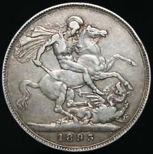 More details for 1893 | victoria crown 'lvii' | silver | coins | km coins